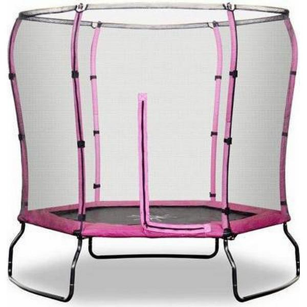 Rebo Safe Jump Trampoline + Safety Enclosure 213cm