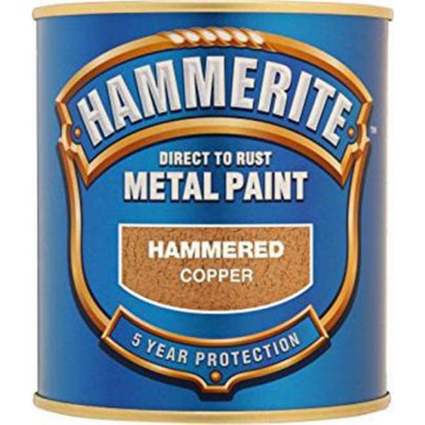 Hammerite Direct to Rust Hammered Effect Metal Paint Gold 0.75L