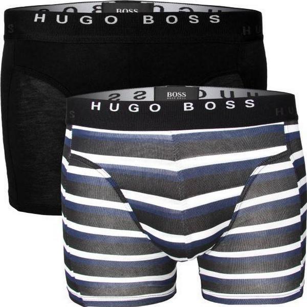 Hugo Boss Boxer Print 2-pack - Black/Blue