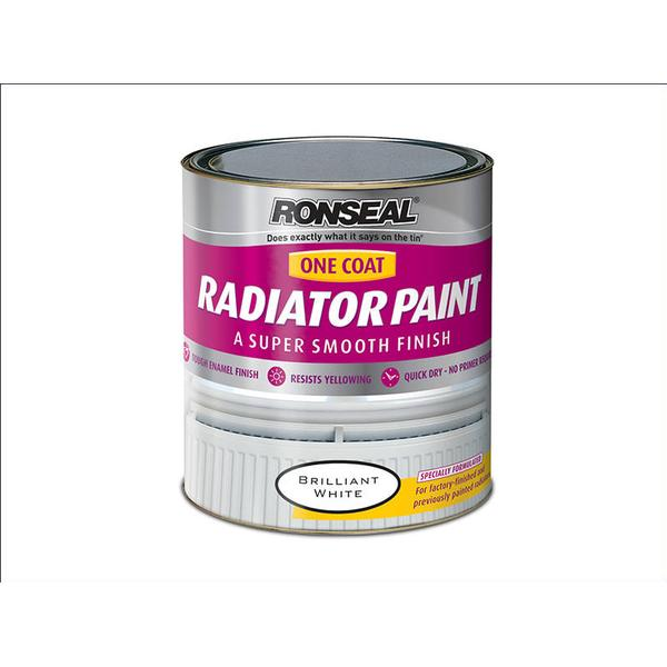 Ronseal One Coat Radiator Paint White 0.75L