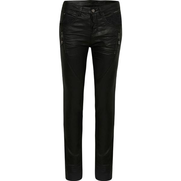 Cream Coated Jeans Pitch Black