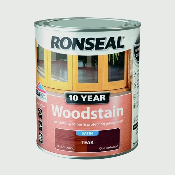 Ronseal 10 Year Woodstain Brown 0.75L