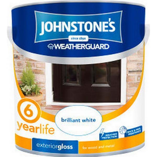 Johnstones Weatherguard 6 Year Exterior Gloss Wood Paint, Metal Paint Green 0.75L