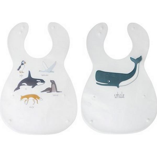 Sebra Bib Printed Arctic Animals 2pcs