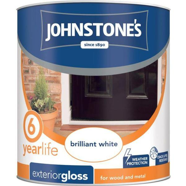 Johnstones Weatherguard 6 Year Exterior Gloss Wood Paint, Metal Paint White 0.75L