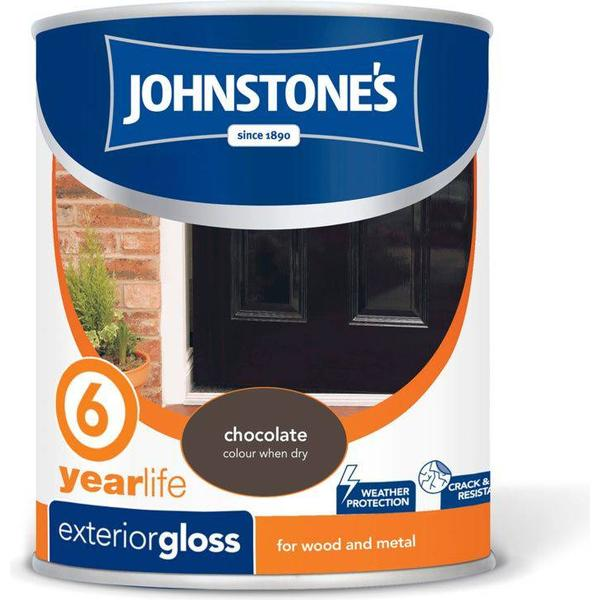 Johnstones Weatherguard 6 Year Exterior Gloss Wall Paint, Wood Paint Brown 0.75L