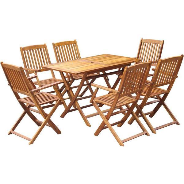 vidaXL 43379 Havemøbelsæt, 1 borde inkl. 6 stole
