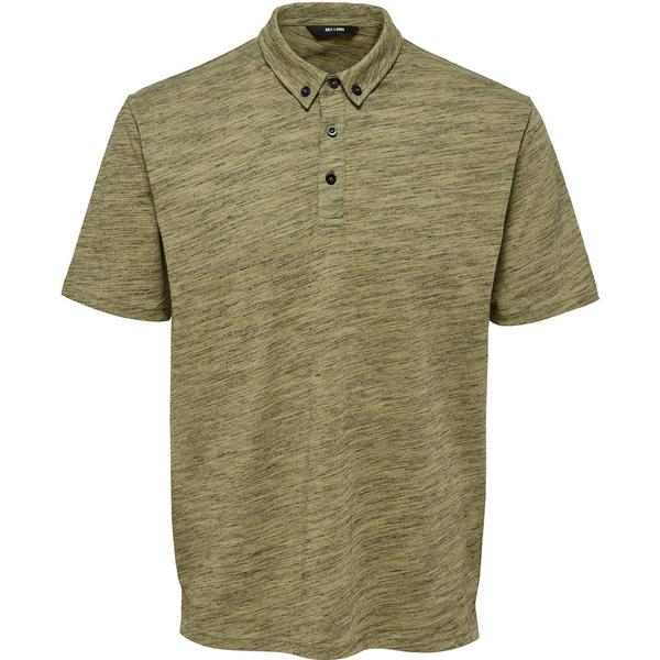 Only & Sons Melange Polo Shirt - Green/Boa