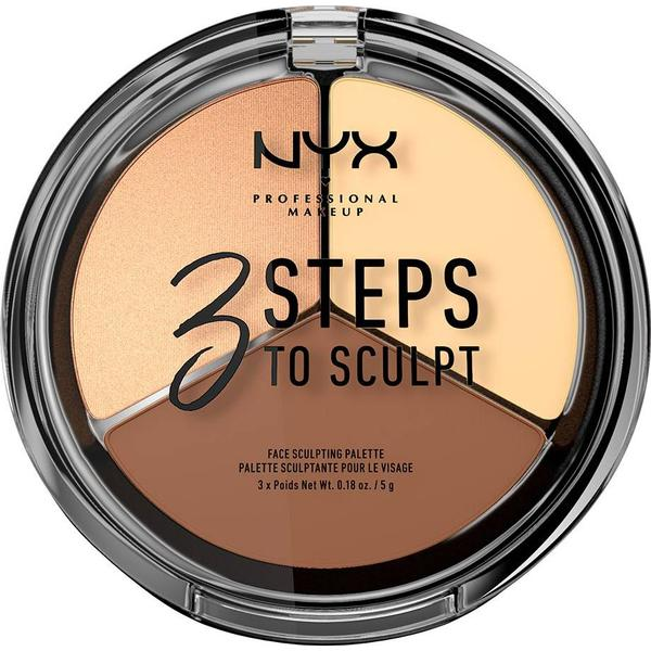 NYX 3 Steps to Sculpt Face Sculpting Palette Light