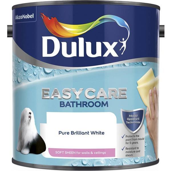 Dulux Easycare Bathroom Soft Sheen Wall Paint, Ceiling Paint White 1L
