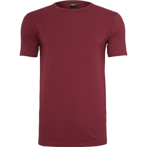 Urban Classics Fitted Stretch Tee - Burgundy