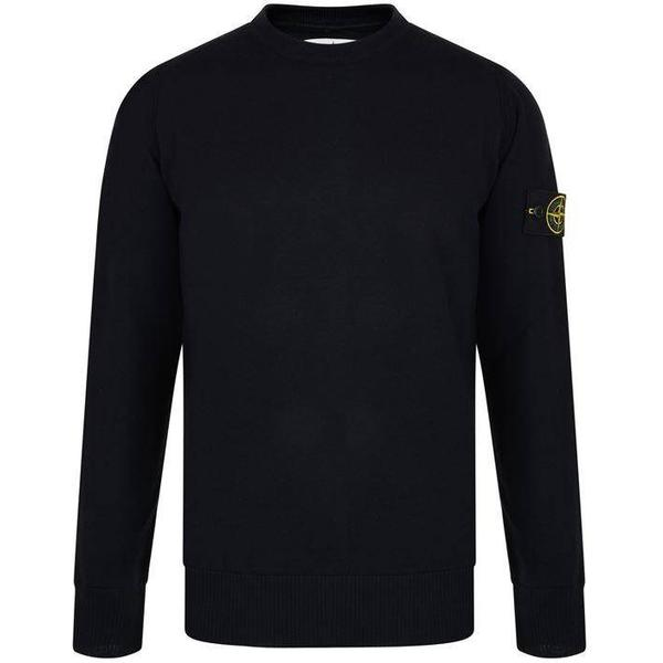Stone Island Wool Badge Jumper Navy - Blue V0020