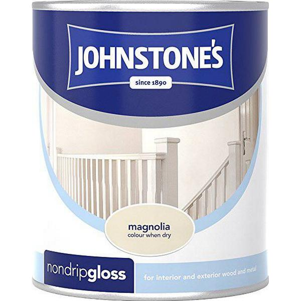 Johnstones Non Drip Gloss Wood Paint, Metal Paint Beige 0.75L