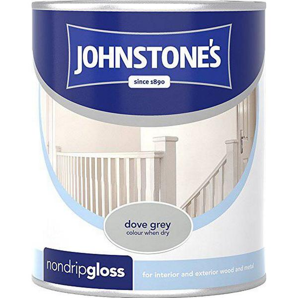 Johnstones Non Drip Gloss Wood Paint, Metal Paint Grey 0.75L