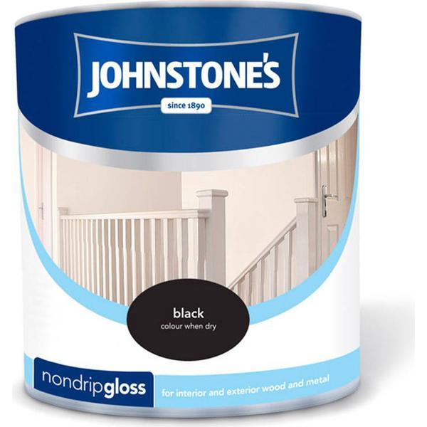 Johnstones Non Drip Gloss Wood Paint, Metal Paint Black 0.25L