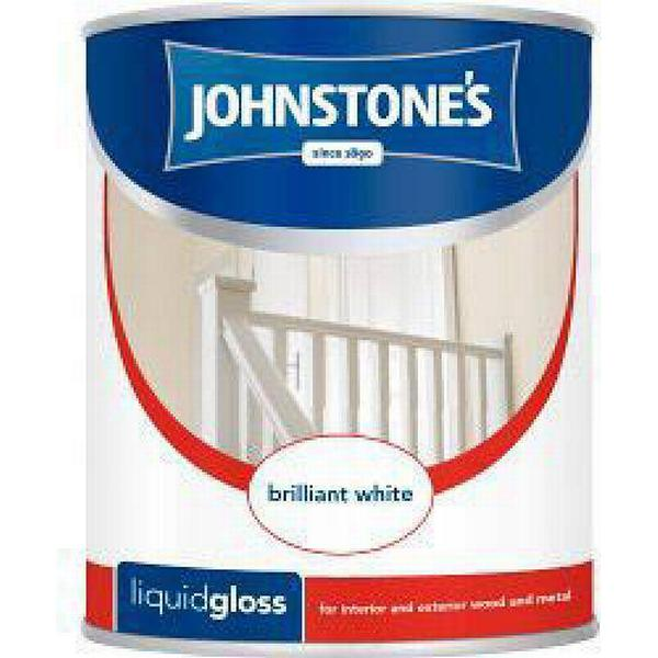 Johnstones Liquid Gloss Wood Paint, Metal Paint Black 0.75L