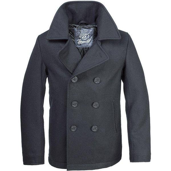 Brandit Pea Coat - Black