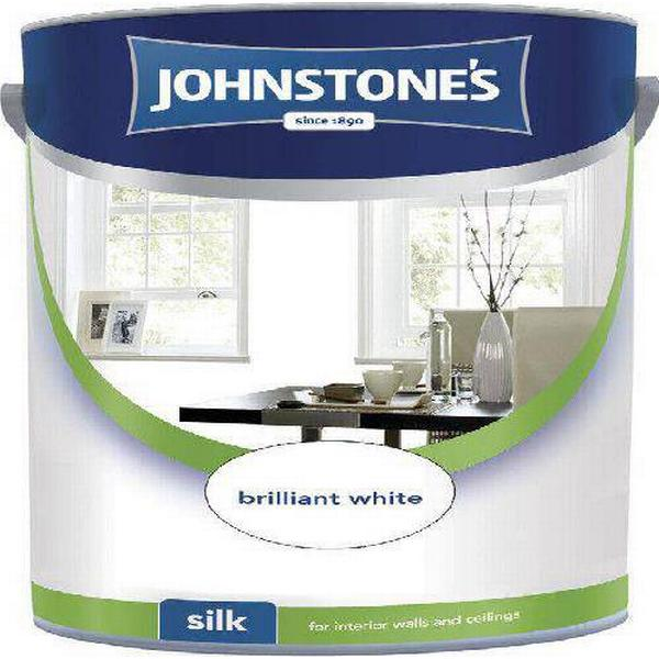 Johnstones Silk Wall Paint, Ceiling Paint White 5L