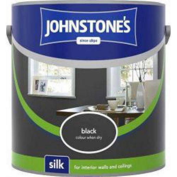 Johnstones Silk Wall Paint, Ceiling Paint Black 2.5L