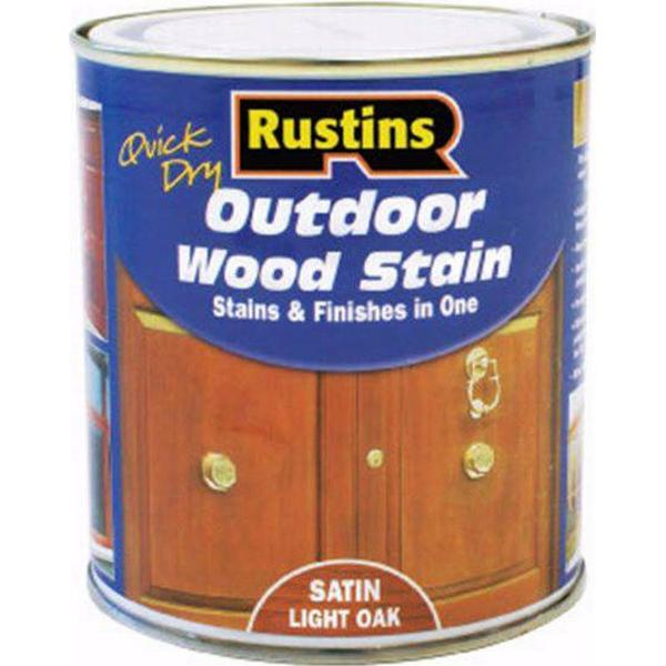 Rustins Quick Dry Outdoor Woodstain Brown 0.5L