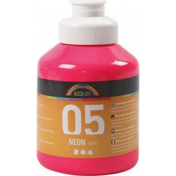 A Color Acrylic Paint Neon 05 Pink 500ml