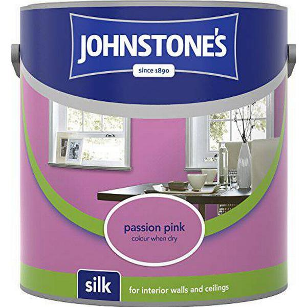Johnstones Silk Wall Paint, Ceiling Paint Pink 2.5L