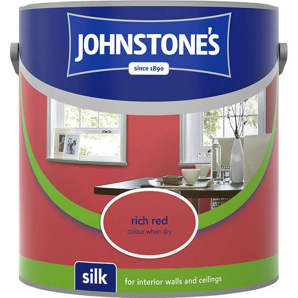 Johnstones Silk Wall Paint, Ceiling Paint Red 2.5L