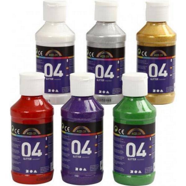 A Color Acrylic Paint Glitter Transparent 04 6x120ml