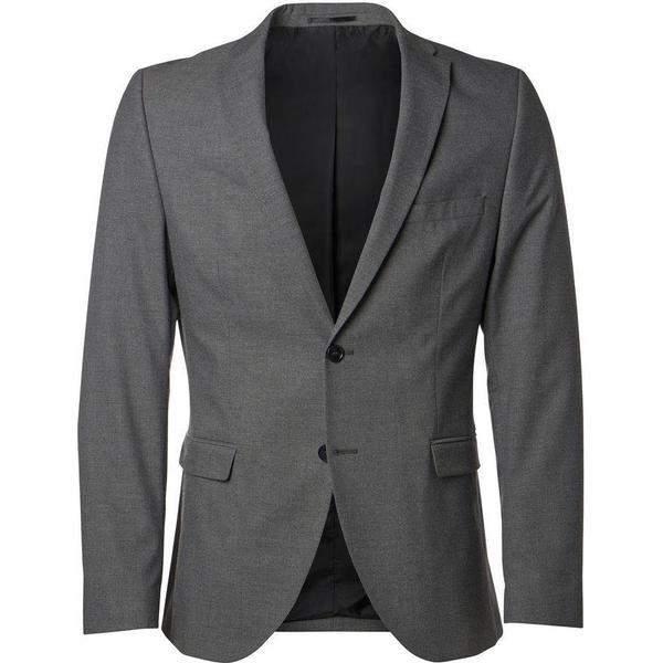 Selected Slim Fit Blazer Grey/Medium Grey Melange