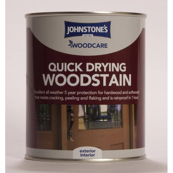 Johnstones Woodcare Quick Drying Woodstain Brown 0.75L