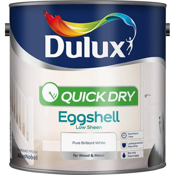 Dulux Quick Dry Eggshell Wood Paint, Metal Paint White 2.5L