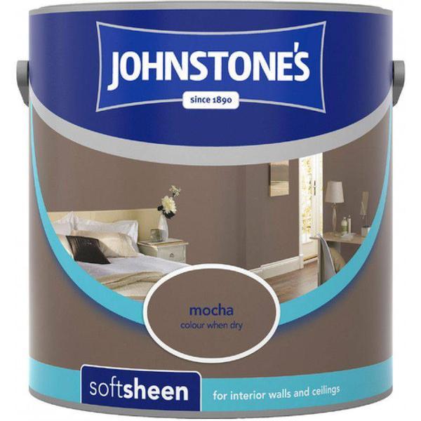 Johnstones Soft Sheen Wall Paint, Ceiling Paint Brown 2.5L