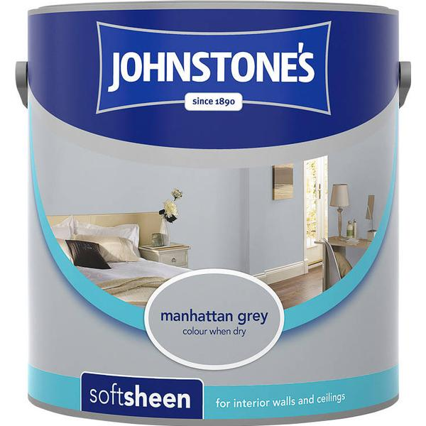 Johnstones Soft Sheen Wall Paint, Ceiling Paint Grey 2.5L