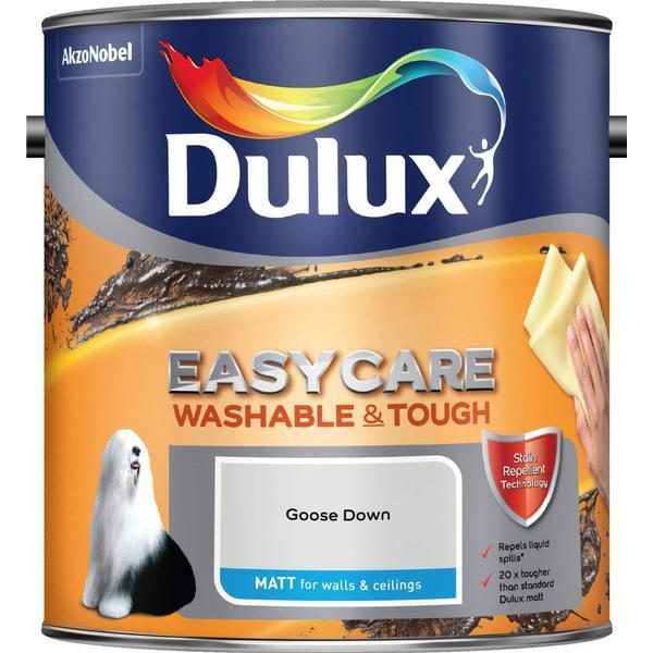 Dulux Easycare Washable & Tough Matt Wall Paint, Ceiling Paint Grey 2.5L