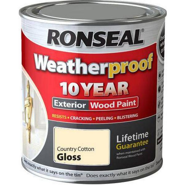 Ronseal 10 Year Weatherproof Wood Paint White 0.75L