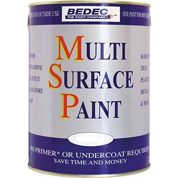 Bedec Multi Surface Wood Paint, Metal Paint Beige 0.75L