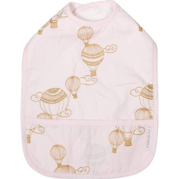 Filibabba Airballoon Light Rose with Gold Print & Solid Plum 2pcs