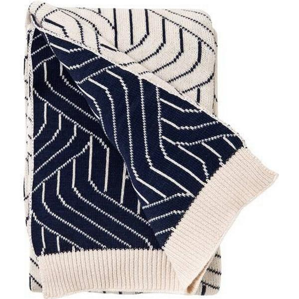 Garbo&Friends Strada Navy Blue Cotton Blanket