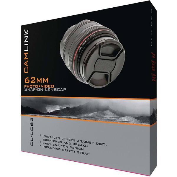 CamLink Snap On Lens Cap 62mm Frontdæksel