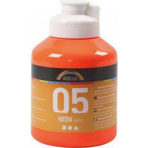 A Color Acrylic Paint Neon 05 Orange 500ml