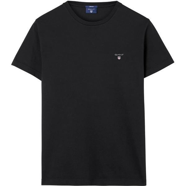 Gant Solid T-shirt - Black