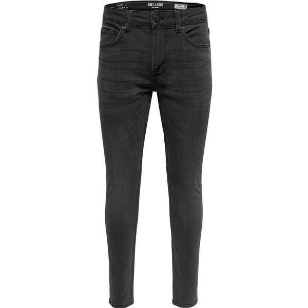Only & Sons Warp Skinny Fit Jeans - Grey/Grey Denim