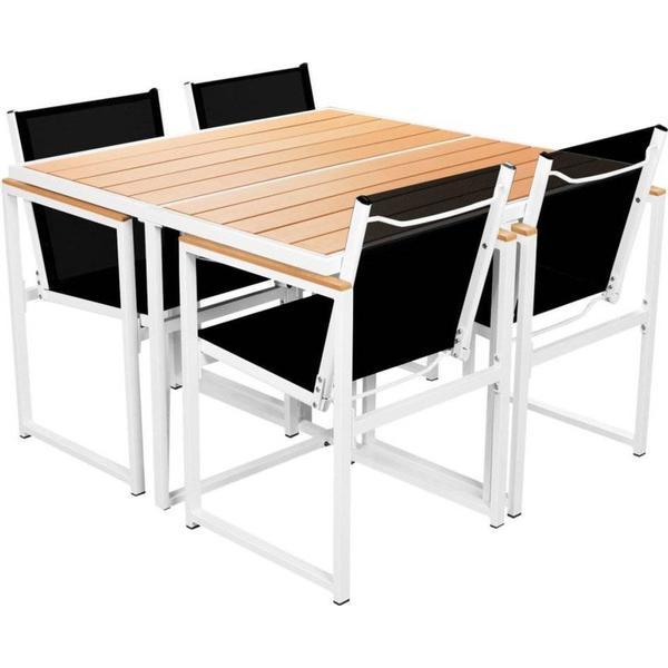vidaXL 42805 Havemøbelsæt, 1 borde inkl. 4 stole
