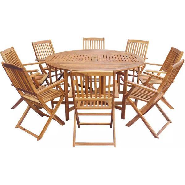 vidaXL 42535 Havemøbelsæt, 1 borde inkl. 8 stole