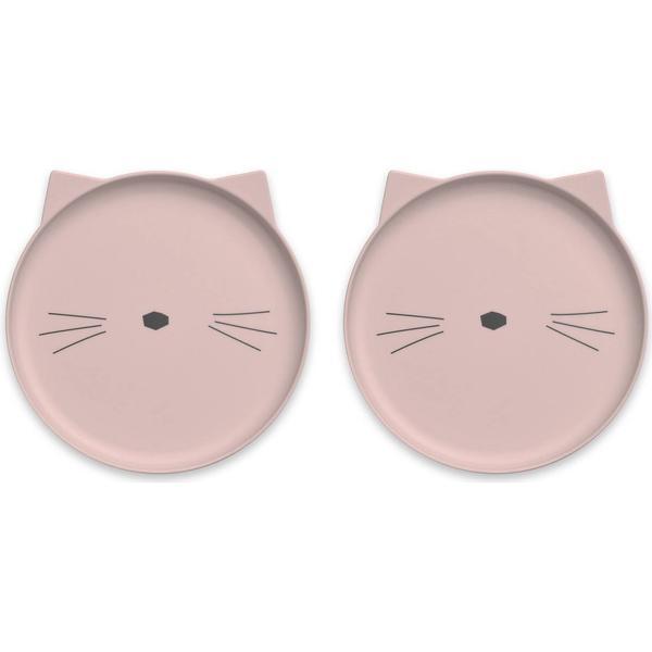 Liewood Villum Plate Cat 2-pack