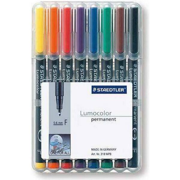 Staedtler Lumocolor Permanent Pen 318 0.6mm 8 Pack