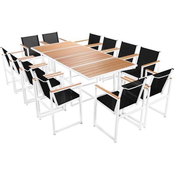 vidaXL 42810 Havemøbelsæt, 1 borde inkl. 12 stole