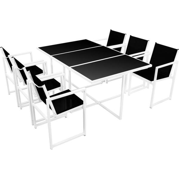 vidaXL 42801 Havemøbelsæt, 1 borde inkl. 6 stole