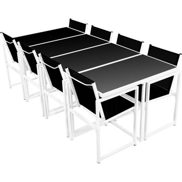 vidaXL 42803 Havemøbelsæt, 1 borde inkl. 8 stole