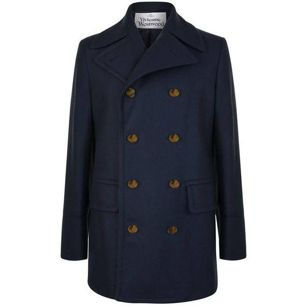 Vivienne Westwood Double Breasted Coat - Navy